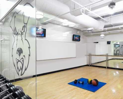 Audiovisual solutions for a college fitness center