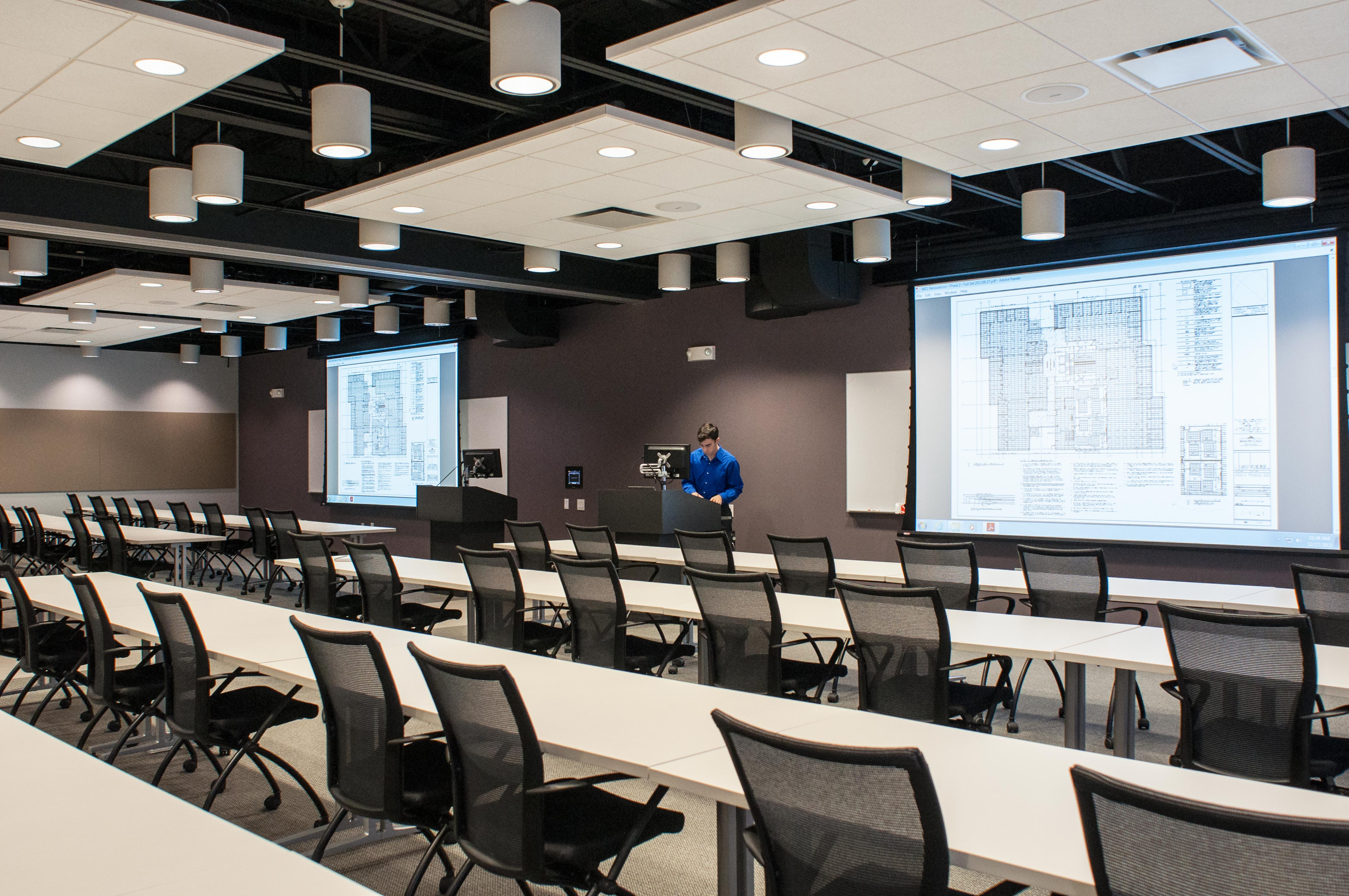 Training Room Flooring : Construction contracting firm presentation products
