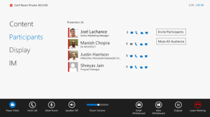 The easy-to use Lync Room System Interface
