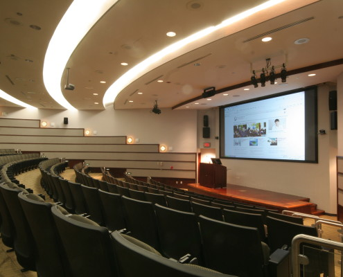 Queens College, Lecture Hall Audiovisual, Interactive Podium, Audiovisual programming