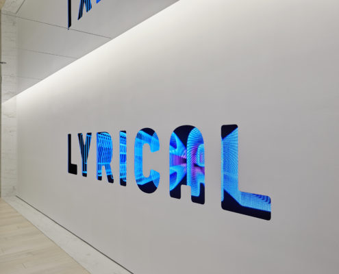 Lyrical Reception LED Wall